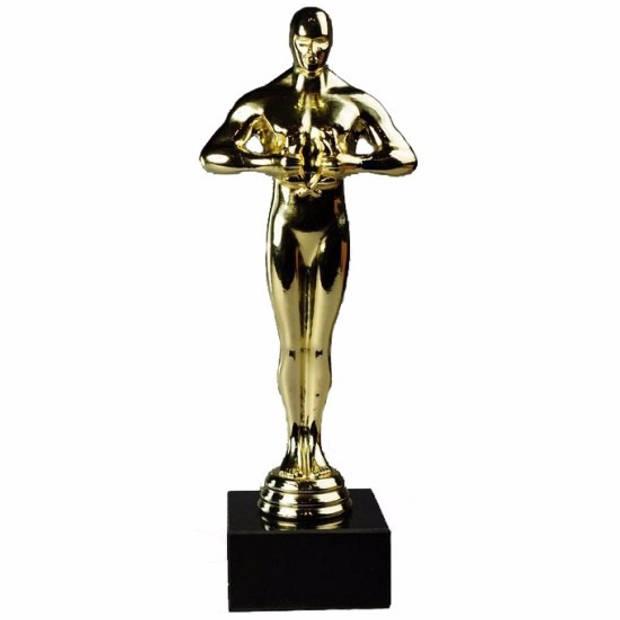 3 luxe award beeldjes 22 cm - Verkleedattributen