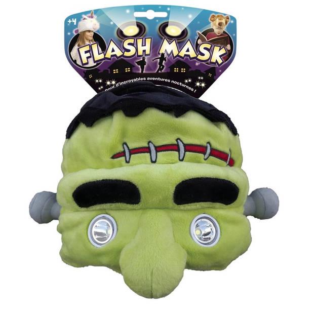 Halloween - Pluche Frankenstein muts met leeslamp/lampjes ogen voor kinderen