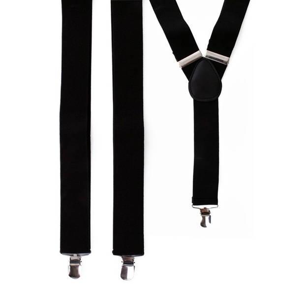 Bretels in het zwart - Verkleedbretels