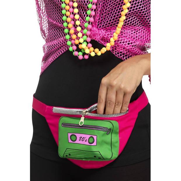 Jaren 80 heuptasje voor volwassenen - Verkleedtassen