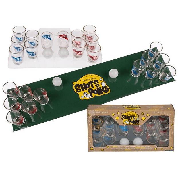 Drankspel/drinkspel shotjes pong - feestartikelen