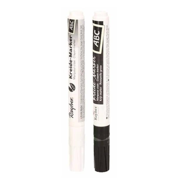 Raamstift setje zwart en wit - Hobby viltstiften
