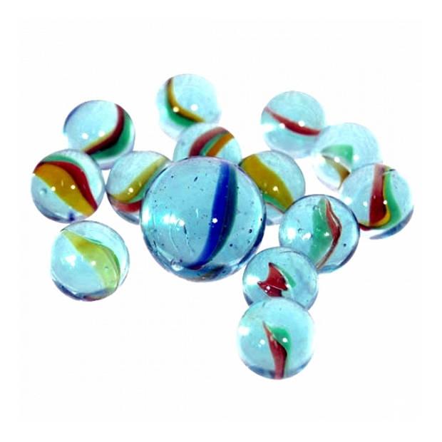 243 x Glazen knikkers, drie keer een halve kilo - Buitenspeelgoed - knikkeren