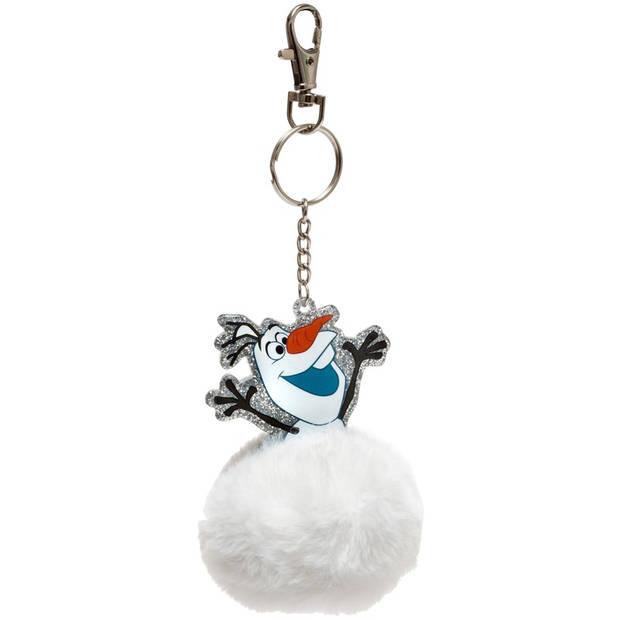 Pluche witte Olaf Disney Frozen sleutelhanger 8 cm