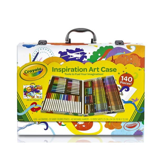 Kleurkoffer 140-delig voor kids - Complete teken en kleur koffertje voor kinderen