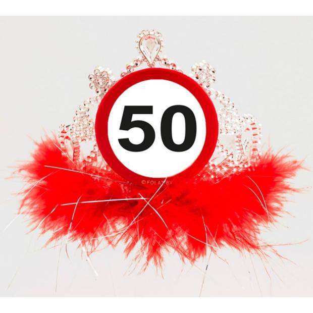 Tiara 50 jaar geworden - Verkleedhaardecoratie