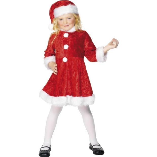 Kerst jurkje met muts voor meisjes 122-134 (6-8 jaar) - Carnavalsjurken