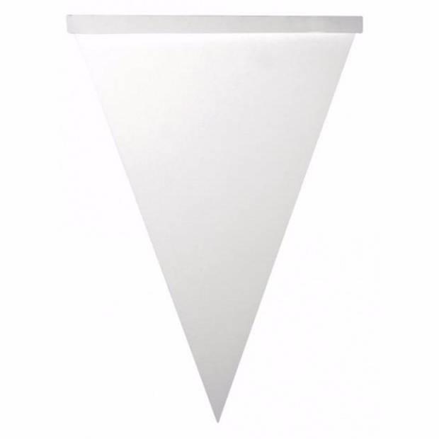 Blanco vlaggenlijn vlaggetjes 42 stuks - Feestslingers