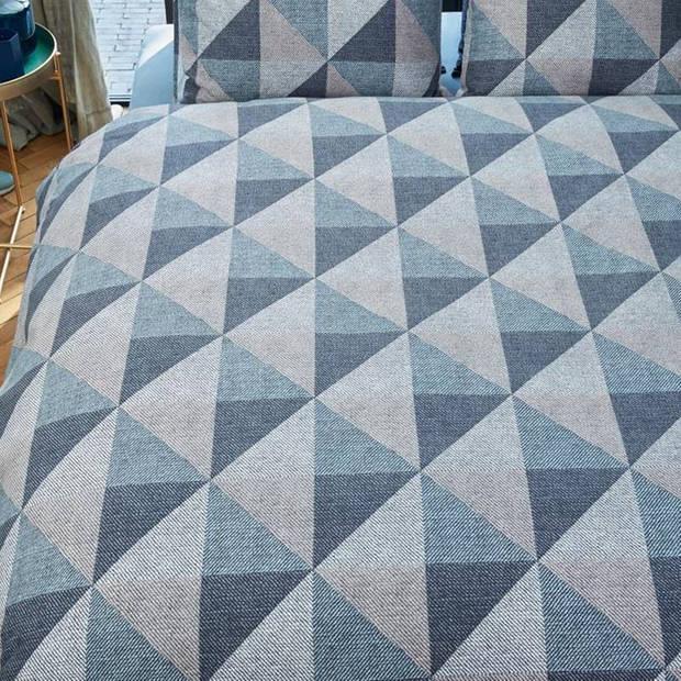 Beddinghouse Stairs flanel dekbedovertrek - Lits-jumeaux (240x200/220 cm + 2 slopen) - Flanel - Blue grey