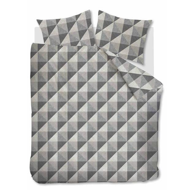 Beddinghouse Stairs flanel dekbedovertrek - Lits-jumeaux (240x200/220 cm + 2 slopen) - Flanel - Black
