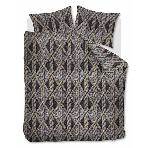 Beddinghouse Aran Knit flanel dekbedovertrek - Lits-jumeaux (240x200/220 cm + 2 slopen) - Flanel - Grey