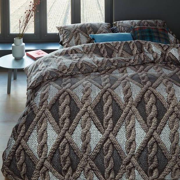 Beddinghouse Aran Knit flanel dekbedovertrek - 2-persoons (200x200/220 cm + 2 slopen)