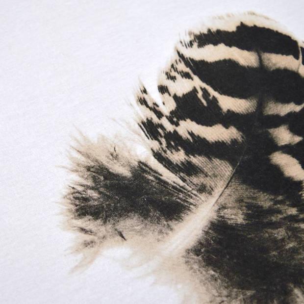 Snoozing Plumes dekbedovertrek - 100% katoen-satijn - 1-persoons (140x200/220 cm + 1 sloop) - 2 stuks (60x70 cm) - Wit
