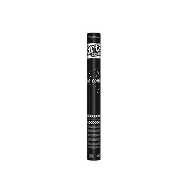 2x Confetti kanon metallic wit 60 cm - Confetti