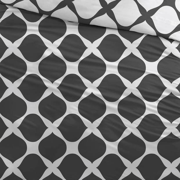 Snoozing Mia dekbedovertrek - Lits-jumeaux (270x200/220 cm + 2 slopen) - Katoen - Antracite
