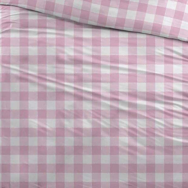 Snoozing Mila dekbedovertrek - Lits-jumeaux (240x200/220 cm + 2 slopen) - Katoen - Roze