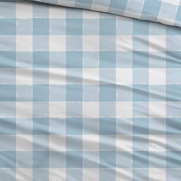 Snoozing Mila dekbedovertrek - Lits-jumeaux (240x200/220 cm + 2 slopen) - Katoen - Blauw