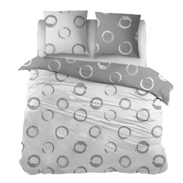 Snoozing Maria dekbedovertrek - Lits-jumeaux (270x200/220 cm + 2 slopen) - Katoen - Grey