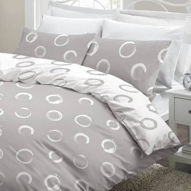 Snoozing Maria dekbedovertrek - Lits-jumeaux (240x200/220 cm + 2 slopen) - Katoen - Grey