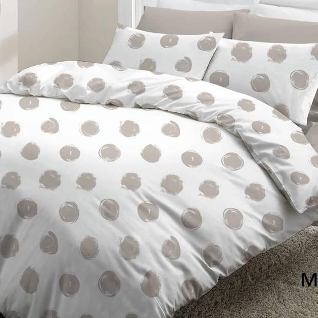 Snoozing Milou dekbedovertrek - Lits-jumeaux (240x200/220 cm + 2 slopen) - Katoen - Taupe