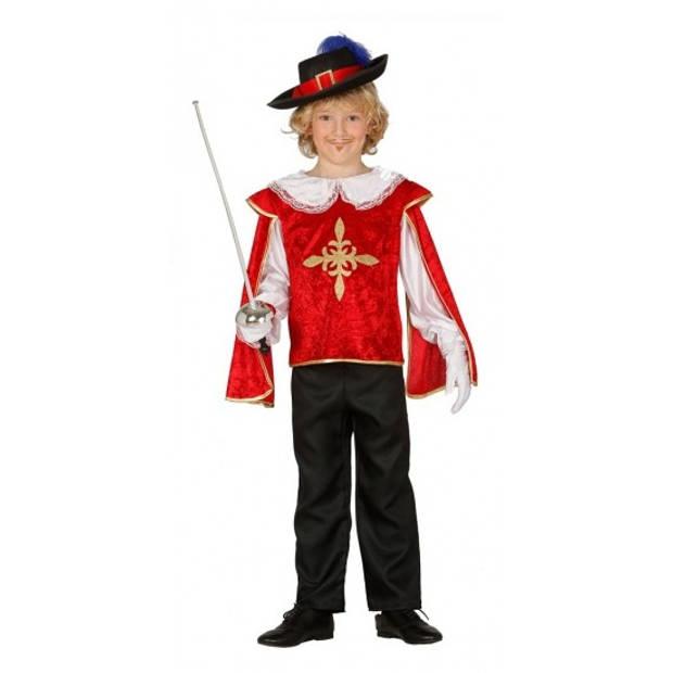 Musketiers kostuums jongens 110-116 (5-6 jaar)