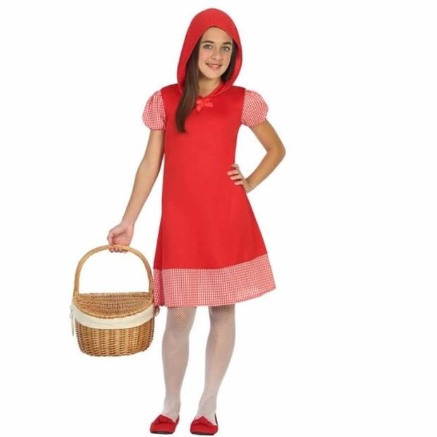 Roodkapje verkleedjurkje voor meisjes 128 (7-9 jaar) - Carnavalsjurken