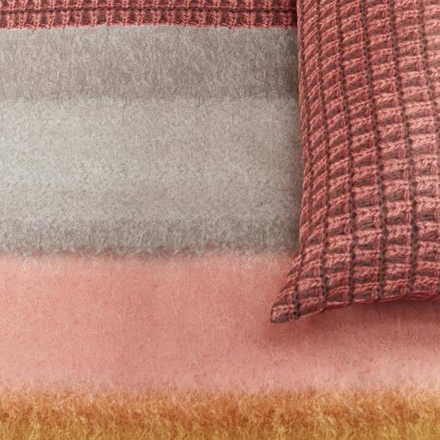 Oilily Mountain Meadow dekbedovertrek - Lits-jumeaux (260x200/220 cm + 2 slopen) - Katoen satijn - Red