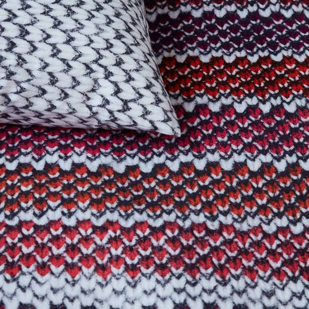 Beddinghouse Jarno flanel dekbedovertrek - Lits-jumeaux (240x200/220 cm + 2 slopen) - Flanel - Red