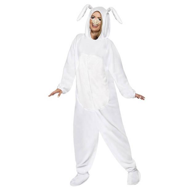 Konijn/haas kostuum wit - Verkleedpak konijnen/hazen 48-50 (M)