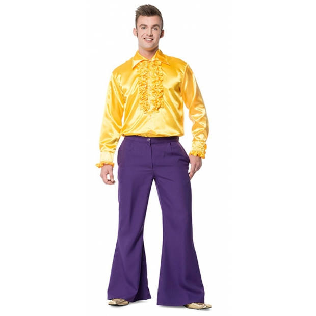 Paarse wijd uitlopende verkleedbroek voor heren 54 (XL) - Carnavalsbroeken
