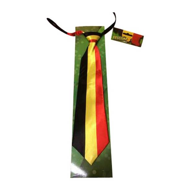 Stropdas vlag Belgie supporter - Verkleedstropdassen