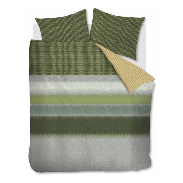 Oilily Mountain Meadow dekbedovertrek - Lits-jumeaux (260x200/220 cm + 2 slopen) - Katoen satijn - Green
