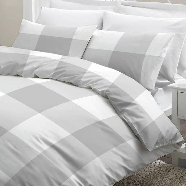 Snoozing Maaike dekbedovertrek - Lits-jumeaux (270x200/220 cm + 2 slopen) - Katoen - Grey