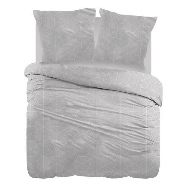 Snoozing Marieke dekbedovertrek - Lits-jumeaux (240x200/220 cm + 2 slopen) - Katoen - Grey
