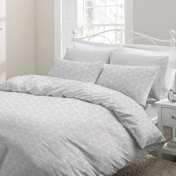 Snoozing Marieke dekbedovertrek - Lits-jumeaux (270x200/220 cm + 2 slopen) - Katoen - Grey