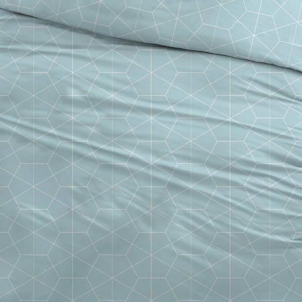 Snoozing Marieke dekbedovertrek - Lits-jumeaux (240x200/220 cm + 2 slopen) - Katoen - Turquoise