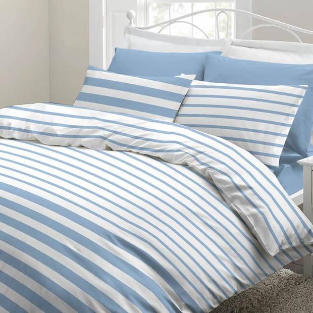 Snoozing Mandy dekbedovertrek - Lits-jumeaux (270x200/220 cm + 2 slopen) - Katoen - Blue