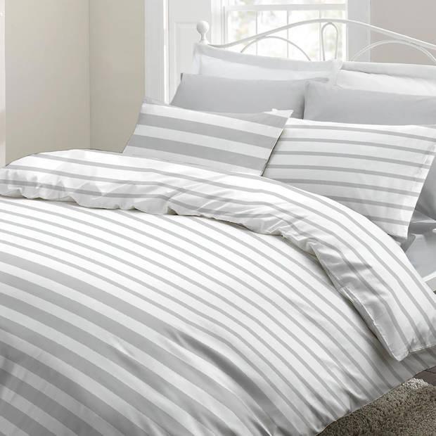 Snoozing Mandy dekbedovertrek - Lits-jumeaux (270x200/220 cm + 2 slopen) - Katoen - Grey