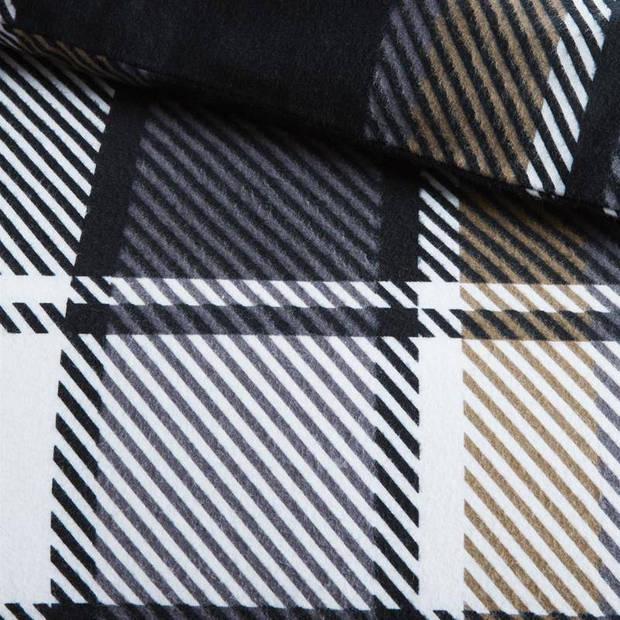 Beddinghouse Stanford flanel dekbedovertrek - Lits-jumeaux (260x200/220 cm + 2 slopen) - Flanel - Antraciet