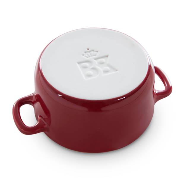 BK Bourgogne cocottes - chili red - set van 2