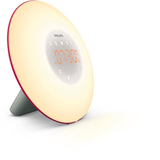 Philips Wake-up Light HF3506/30 - roze/zilver
