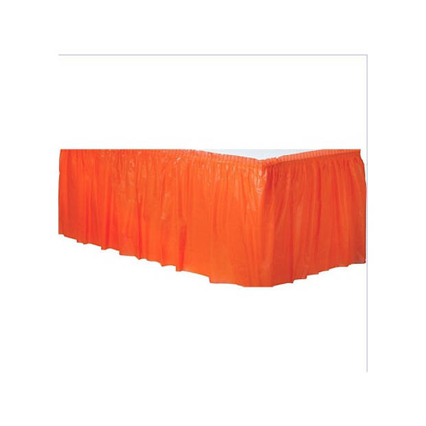 Oranje tafelrok - Feesttafelkleden
