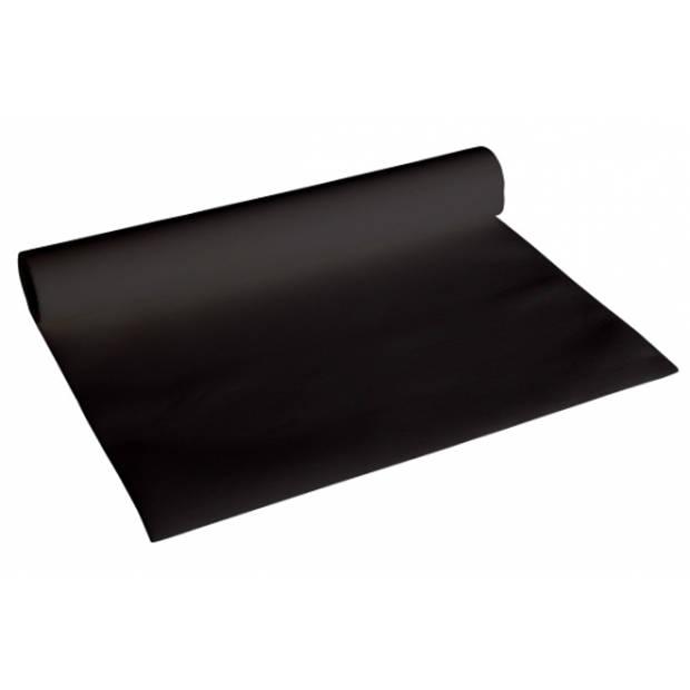 Halloween - Luxe zwarte tafelloper 480 x 40 cm - Feesttafelkleden