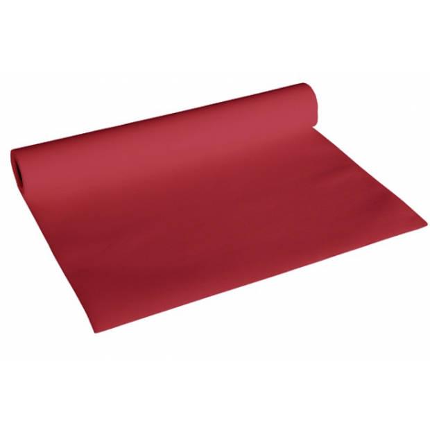 Luxe bordeaux rood kleur tafelloper 4,8 meter - Feesttafelkleden
