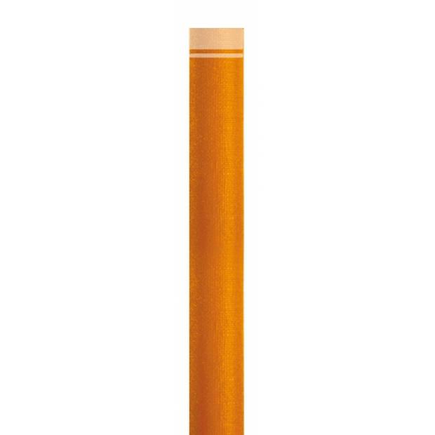 Oranje papieren tafelloper 40 x 500 cm - Feesttafelkleden