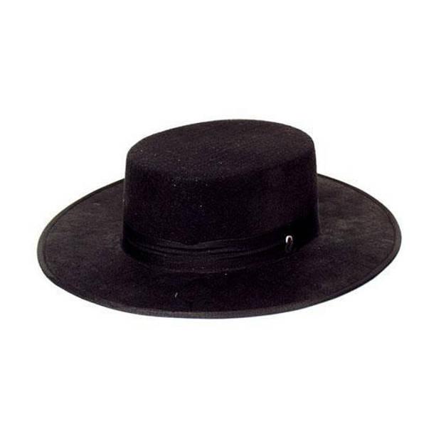 Spaanse hoed zwart - Verkleedhoofddeksels