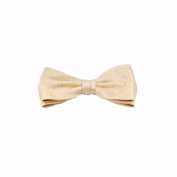 Luxe strikje goud - Vlinderdassen