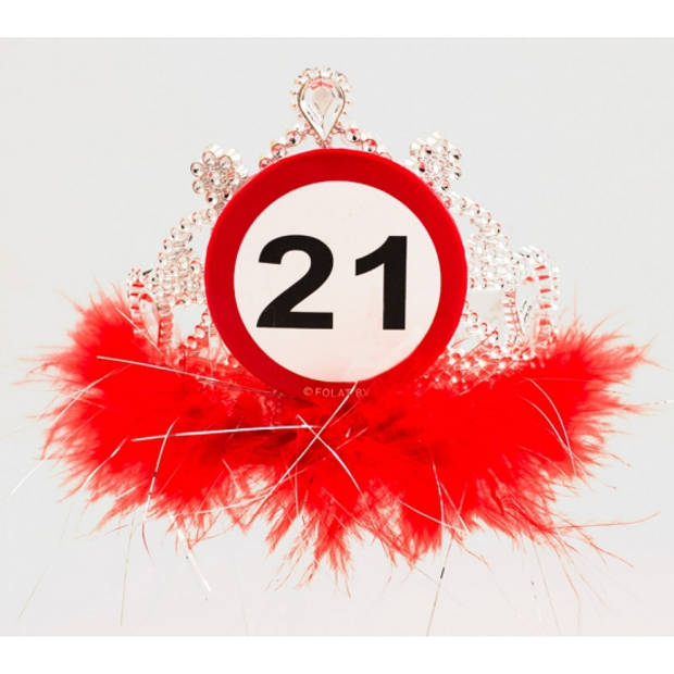 Tiara 21 jaar geworden - Verkleedhaardecoratie