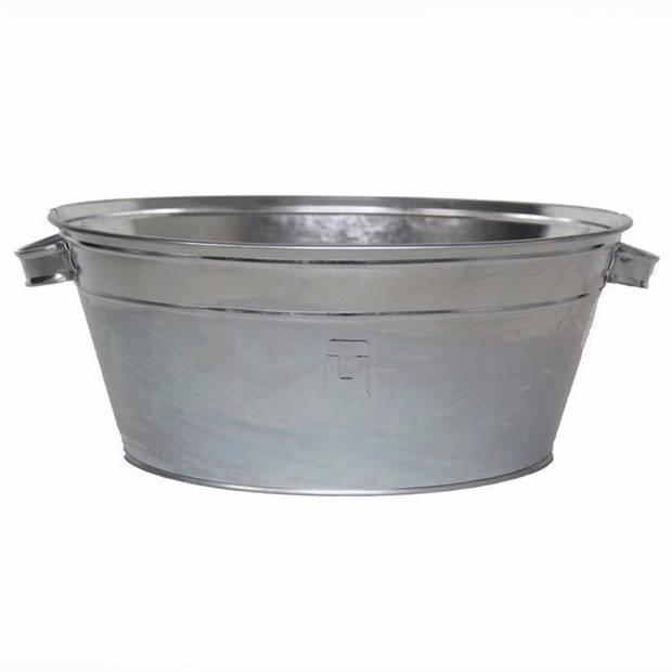 Ronde zilveren drankemmer/drankkoeler 11 liter - IJsemmers