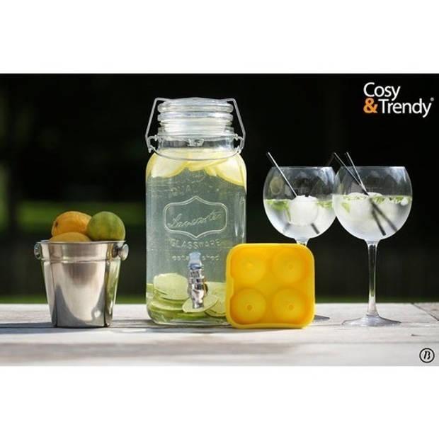 Glazen drank dispenser 3,75 liter - Drank dispensers met kraantje